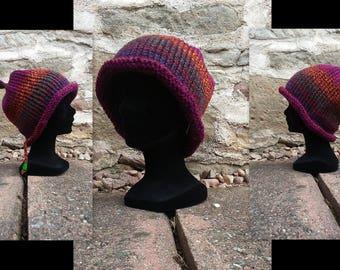 Simple Beanie in purplish shades