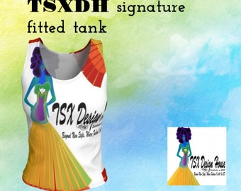 TSXDH Signature fitted tank top