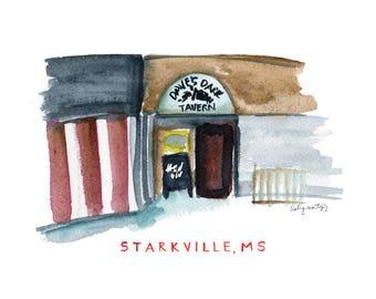 "Starkville Mississippi Print -- Dave's Dark Horse 8 x 10"""