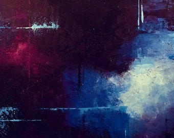 Blue for You - Print of Abstract Painting
