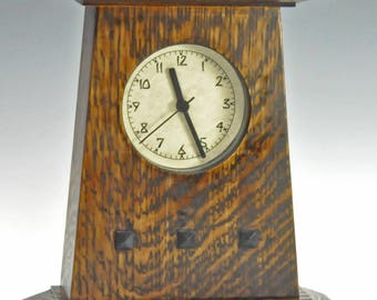 Arts and Crafts (Mission, Craftsman) style clock - Inset Dial