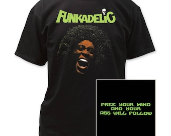 Funkadelic Free Your Mind Men's Traditional 18/1 Cotton Tee (FUNK03) Black