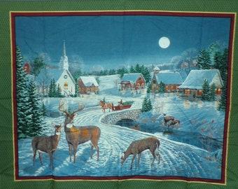 Winter's Eve 100% Cotton Fabric Wall Panel #706
