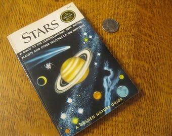 Pocket Stars Book , Golden Nature Guide Book Of Stars