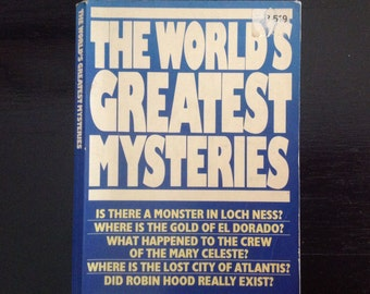 The worlds greatest Mysteries Nigel Blundell , Bigfoot, premonitions human mind, secrets ghosts, crime non fiction paperback 1980s