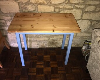 Console Table - Up-Cycled with new reclaimed pine floorboard top