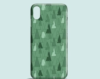 Forest Pattern phone case / pattern iPhone X case, iPhone 8, iPhone 7, iPhone 7 Plus, iPhone SE, iPhone 6S, iPhone 6, iPhone 5S, iPhone 5