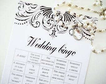 Wedding bingo printable Summernight - instant download