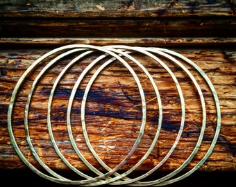 Brass Bangles Set of Three Bangles Bangle Bracelets Hammered Bangles Polished Bangles Bohemian Bangles Set of 3 Bangles 3 Bangle Bracelets
