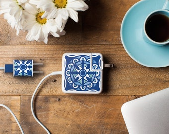 iPhone and Apple Laptop Charger Sticker - Moroccan Design - Great tech accessory gift for your sophisticated Mac-user