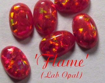 LAB OPAL Cabochon - 'Flame' (op45) : sku 07.06.17