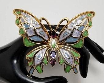 BOB MACKIE Colorful Butterfly Brooch