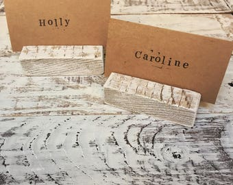 Wedding place card holders / Rustic name card holders / Wedding table decor / Rustic wedding decor / Wedding pallet wood