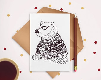 Vintage Bear- postcard
