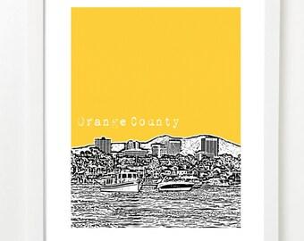 Orange County California Poster - Orange County Art - Newport Beach Poster