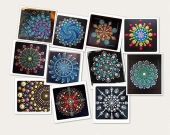 Handpainted Tile Coasters: Choose a set