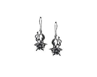 Columbine Flower Dangle Earrings
