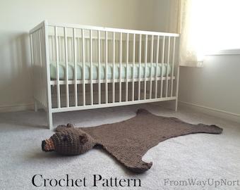 Bear Rug Blanket - Crochet Pattern