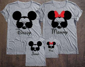 Disney Family Shirts Disney Shirts,Disney Family Shirts, Mickey, Minnie,Custom T-shirt,Personalized Disney Shirts for Family Shirts Matching
