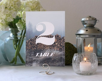 Scenic Nature Photograph Table Number Hipster Beautiful Wedding
