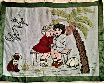 Children vintage rug