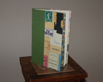 Handmade notebook approximately 100 pages, 8.5 by 5.5 inches. Blank pages.