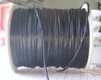 Black Satin Rattail Cord 2mm 10 Feet