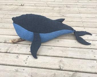 Blue whale stuffed animal