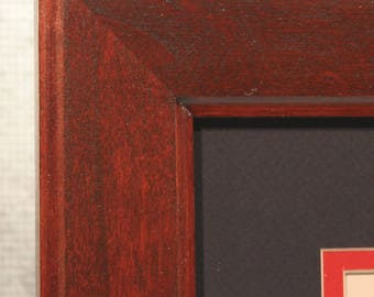 Double Diploma Frame, Solid Cherry, Beautiful Office Decor, Graduation Gift