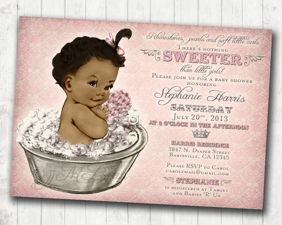 Dynamic image regarding free printable african american baby shower invitations