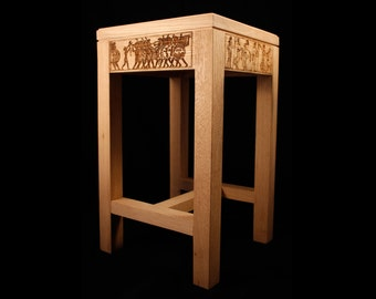 """War and peace"" stool"