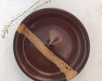 Handmade ceramic incense holder