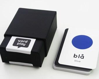 Swedish-English Colours Flashcards - Swedish-English Flashcards - Educational Materials - Children's Learning - Word Play