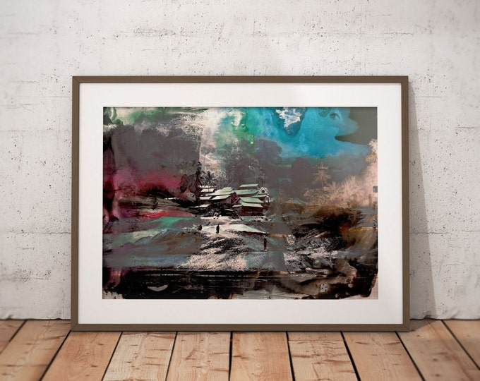 Waterworld XVI by Sven Pfrommer - Artwork is ready to hang with a solid wooden frame