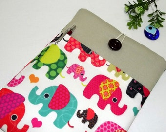"Elephats 11"" Chromebook Sleeve Cover, MacBook Air 11 inch, Surface Case, surface pro 3 case, 11.6 inch laptop case, iPad Pro case 12.9 inch"