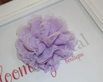 Lavender Lace Chiffon Flower Clip