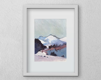 Mountains Print 5x7inches