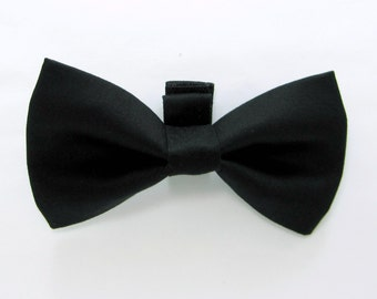 Black  Dog Bow Tie /Wedding Dog Bow/Black Dog Bowtie