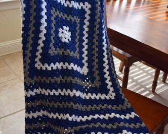 Granny Square Crochet Lap Blanket