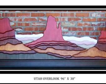 Utah Landscape, Utah Monument, wooden wall art, large wall art, big artwork, vivid wall art