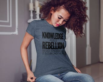 Resist Shirt, Womens Shirts, Smart Girl Shirt, Resistance Tshirt, A Woman's Place is in the Resistance
