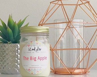 The Big Apple Soy Candle/Soy Candle/Gift for Her/Gift/Apple Scented Candle/new york gift/Macintosh Apple / nyc gift/candle