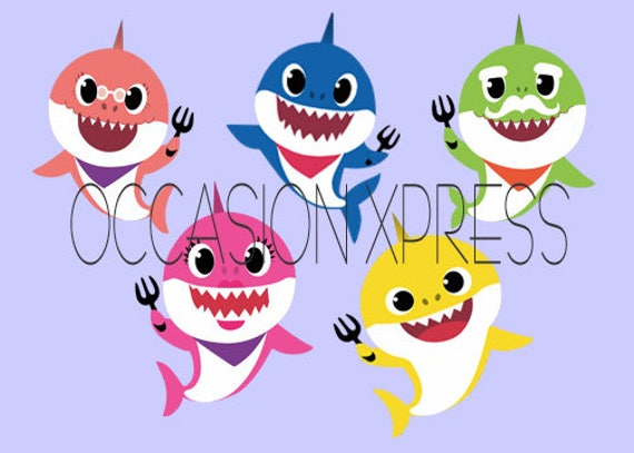 Baby Shark Pinkfong Individual Sharks Digital Files From