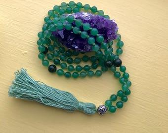 Zen Mala Beaded Prayer Necklace, 108 Prayer Beads