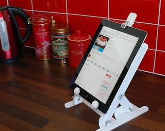 Acrylic iPad / Tablet Display Easel | Recipie Cookbook Book Stand | Premium acrylic | Made in the UK