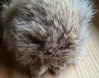 Pompon de loup en fourrure recyclée - Wolf recycled fur pompom