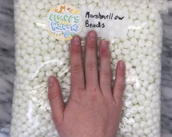 Large gallon bag of marshmallow foam beads! // comes with extras!
