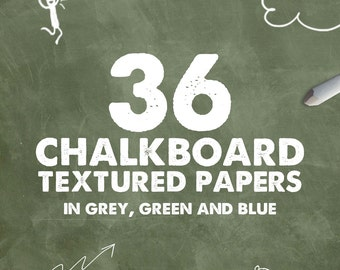 36 REAL Chalkboard Textures in grey, green and blue, chalkboard backdrops and backgrounds