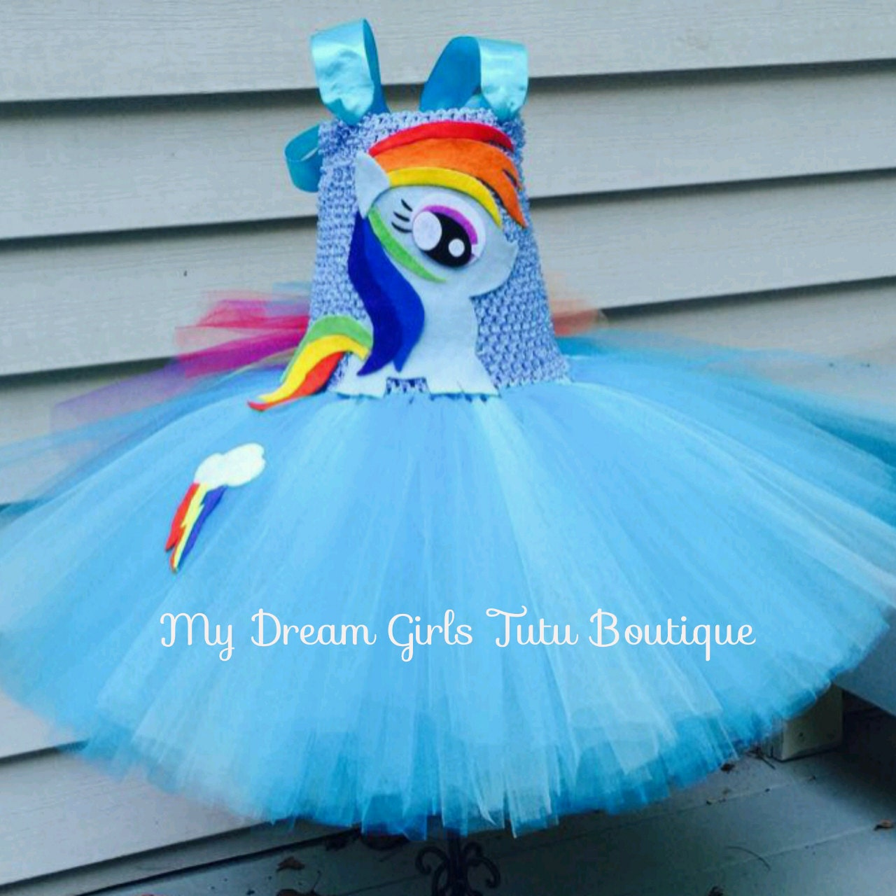 Rainbow Dash Tutu Dress My Little Pony Tutu Dress Mlp