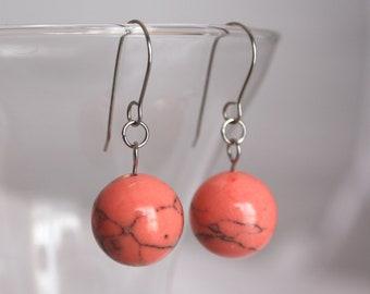 Tangerine Orb Earrings
